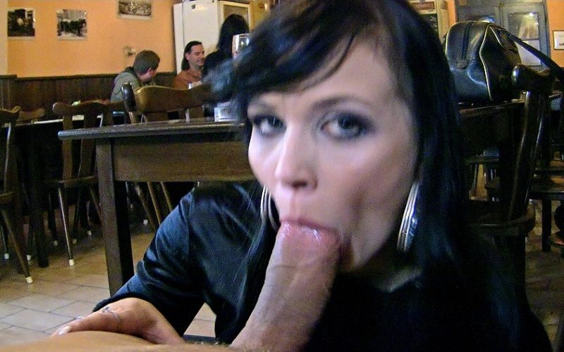 restaurant blowjob