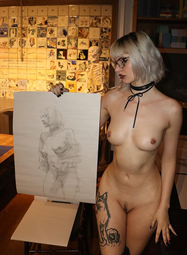 nude model art class